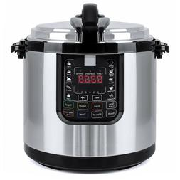 12L Pressure Cooker Electric Large Slow Cook Kitchen Applian