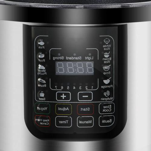 Digital Pressure Cooker W/ Steamer Eco Home Kitchen Appliance