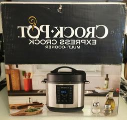 NIB Crock-Pot Express Crock 6-Quart Multi-Cooker Stainless S