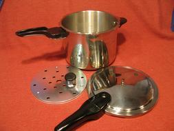 Presto Stainless Steel Pressure Cooker 409A 6 Quart 5 pc Set